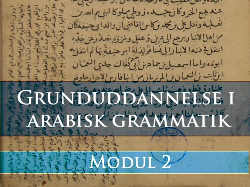 Dybere ind i arabisk grammatik: Syntaks og morfologi – del 1
